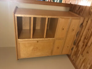Custom built armoire wardrobe.
