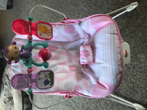 Fisher price pink bouncer bouncy chair EUC