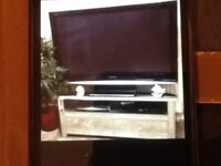 """Lovely Mirrored glass tv video unit with 50""""TV"""