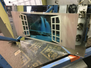 Moving waterfall picture frame