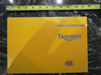 TRIUMPH 2002 SPORTS MOTORCYCLE BROCHURE CATALOG
