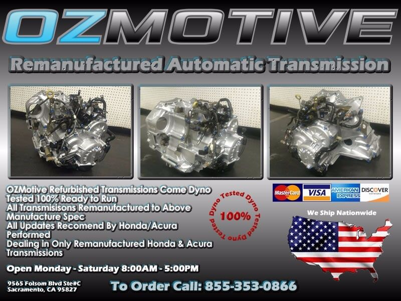 ACURA MDX Remanufactured Automatic Transmission - Acura mdx rebuilt transmission