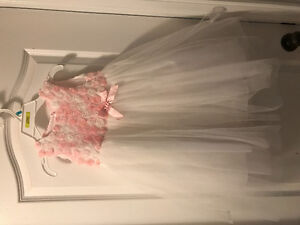 ****BEAUTIFUL WHITE AND PINK TULLE DRESS 5T****