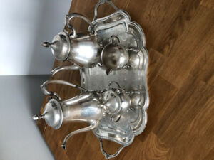 Silver plated tea set EB Brass