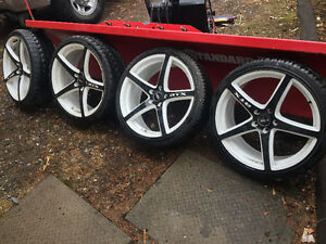 "20"" RTZ rims and tires"