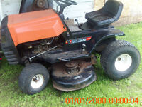 older rideon mower for parts