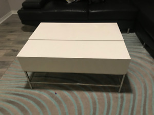 *MOVING SALE* STRUCTUBE WHITE COFFEE TABLE WITH STORAGE $230