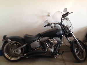 Flat Black Softail Rocker