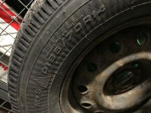 Used Winter tires (Nordic Goodyear) with rims 195/70 R14
