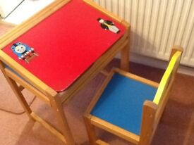 Thomas the tank desk and chairs