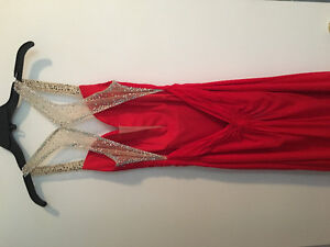 Selling long red dress