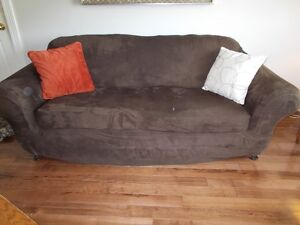 Slip Cover for overstuffed couch, stretch microsued