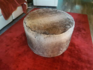 Fuzzy Foot stool from bouclair home