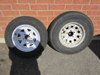 Trailer tire Great Condition with new spare rim