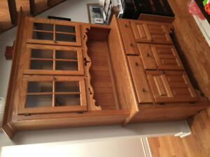 Solid Oak Cabinets - From Brices