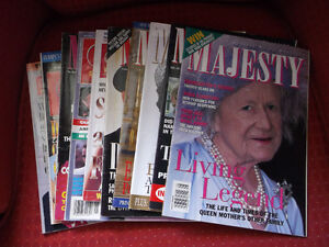 """Royal Fans/Collectors """"Majesty"""" and """"Royalty"""" Magazines (10)"""