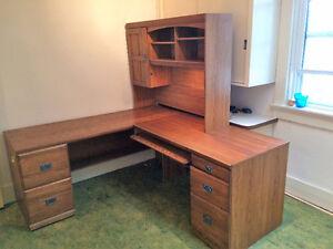 L-shaped Office Desk.  $95 firm