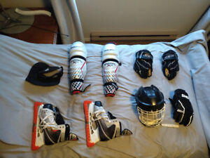 Men's Large Hockey Gear Set and Gear Bag - $180