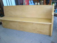 ANTIQUE PINE CHURCH PEW ORIGINAL UNRESTORED CONDITION