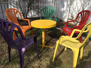 outdoor chairs.bench,  antique chair