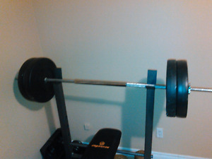 Trade for tablet!! gym equipment bench press , weights & more
