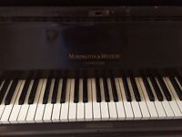 Piano old but iron frame good sound