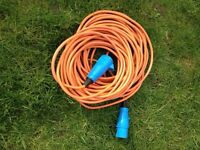 Caravan / Camping Electric Hook Up Extension Mains Cable 25m
