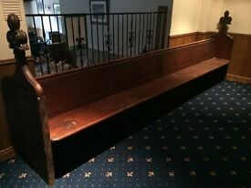 Gothic Church Pew 12 Foot 6 inches long wood