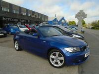 2008 (08) BMW 120i SE CONVERTIBLE Petrol Blue A/C Alloys Low Mileage Manual FSH