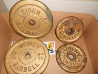 Vintage Weider Weight Plates For Sale