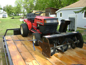 16 horse lawn tractor with atachments