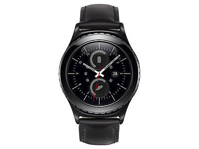 Brand New Samsung Gear S2 Classic Smart Watch With Leather Band Black Sm R732