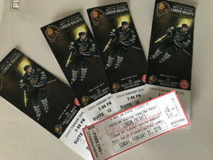London Knights Tickets Premium Seating, Set of 4  (Sun Feb 25th)
