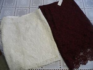 2 LACE PENCIL SKIRTS