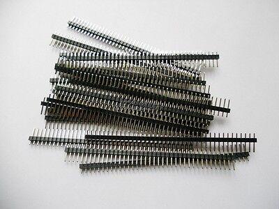 20pcs breakable Single Row pin header Strip 40 Pin 1x40 Male 2.54 US ship M102