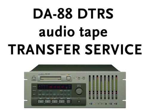 Tascam DTRS DA-88 TRANSFER SERVICE to CD or WAV, MP3