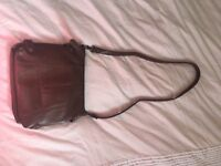 Brown tan saddle bag from accessorise