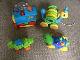 Baby / toddler push and pull along toy bundle