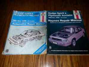 2 HAYNES AUTO REPAIR MANUALS $5.00 FOR BOTH