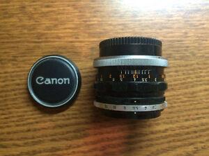 Canon Lens FL 50mm f1.8 for 35mm SLR (1970's Made in Japan) OBO Windsor Region Ontario image 2