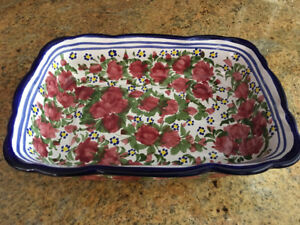 Mexican hand painted dish