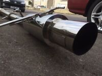 Nissan 200sx s14a s15 Silvia sr20det apex performance stainless steel exhaust system drift