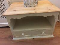 Pine / cream shabby chic. Cabinet solid £40 b on Avon