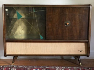 Mid Century Stereo Cabinet by Korting