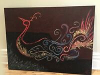 Oil & Acrylic painting 3ftx4ft