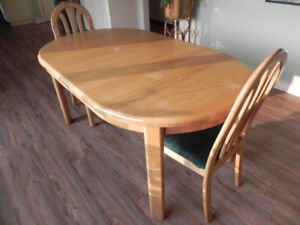 solid ash dining room ensemble