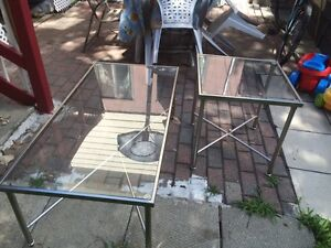 Glass table and side table for sale