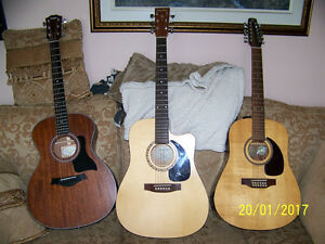 3 GREAT GUITARS!!! PICK ONE OR ALL!!!! EXCELLENT QUALITY!!!