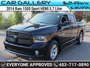 2014 Ram 1500 DODGE SPORT CREW HEMI w/Sunroof, Leather, Navi $24