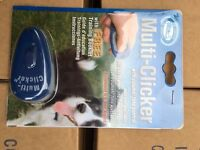 Dog training clicker and manual buy one get one free